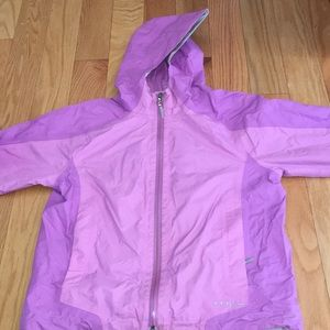Girls Purple LL Bean Raincoat